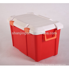 Heavy Duty easy move colorful Plastic Storage Box For Car Homeware Storage Bin Wholesale plastic case