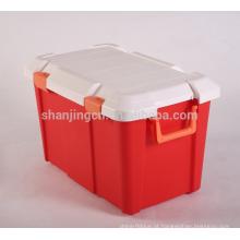 Heavy Duty fácil movimento colorido Caixa De Armazenamento De Plástico Para Carro Homeware Caixa De Armazenamento caixa de plástico Atacado