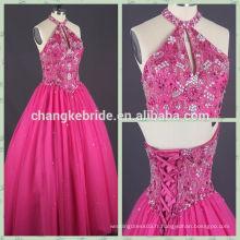 Hot Selling Robe de soirée style gothique classique Rose Red halte robes de quinceanera CK0809