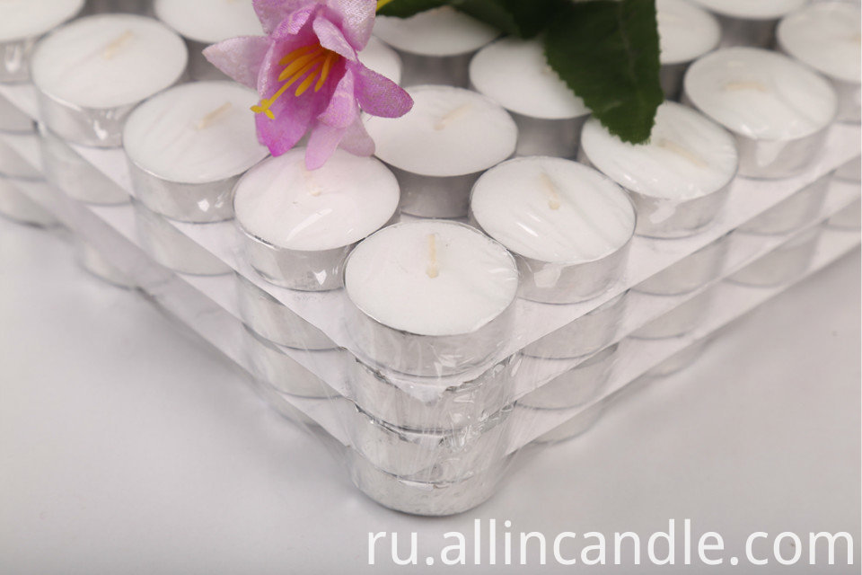 Home Decoration Mini Pillar White Aroma Tealight Candle