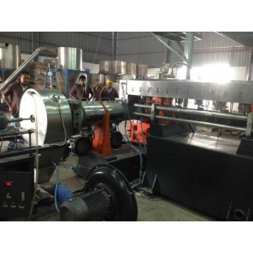 Waste wood granulating extrusion machine WPC