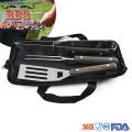 Mini bbq tool set with nylon carry bag