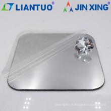 Высокое качество цвет серебро зеркало акриловые пластиковые листы