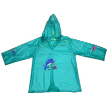 Green Kids Pvc Raincoat