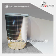 Hologram silver laminated paper in roll form