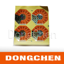 Printed Hot Stamping Hologram Paper Label Sticker