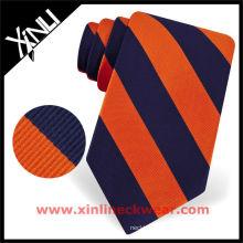 Striped Colorful Woven Silk Neck Tie