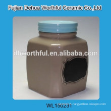 Promotion ceramic storage tank with blue cover