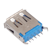 Female Af Type 180 Degree 9pin USB 3.0 Connector
