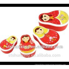 PP plastic cartoon food box set for children