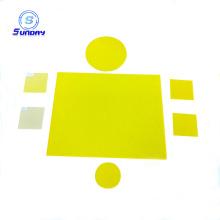 Filtro de vidro amarelo óptico GG400 GG420 GG450 GG475 GG495 GG515