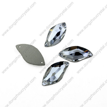 Dongzhou Flat Back Sew on Wholesale Flat Glass Rhinestones