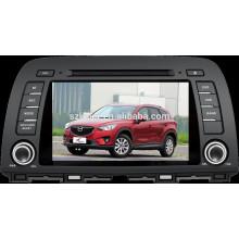 Android 4.4 Auto DVD mit Bluetooth, SPIEGEL-CAST, AIRPLAY, DVR, Spiele, Doppelzone, SWC für Mazda CX-5 2014