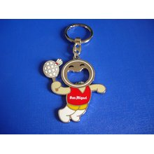 Badminton Key Chain, Cartoon Image Keyring (GZHY-YSK-0015)