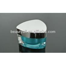 Triangle Decoration Acrylic Jars Emballage Pour Crème 5ml 10ml 15ml 30ml 50ml