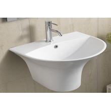Bassin de salle de bains en céramique suspendu (5300b)