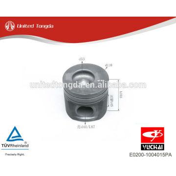 Pistão E0200-1004015PA do motor YC4E de YuChai