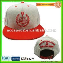 100% acrílico Snapback sombrero gris SN-1159