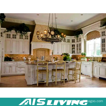 China Luxury Prefab Homes Online Shopping Kitchen Unit PVC Kitchen Cabinet (AIS-K716)