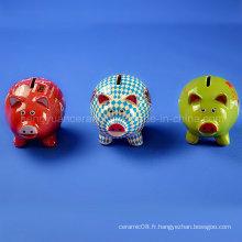 Lovely Color Pig Money Coin Bank pour les cadeaux d'enfants