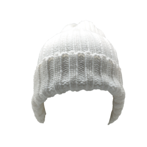 warm acrylic hat without a ball for girls