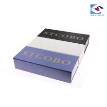Pacote de design livre sencai high-end único relógio personalizado caixa de papel retangular cinta