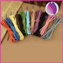 Cord ,faux suede lace, mixed colors, 2.5x1.5mm.factory price,wholesale cheap ,diy jewelry making