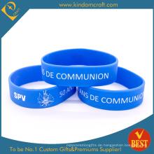 Benutzerdefinierte erweiterte blaue Silikon-Armband für Werbegeschenke (LN-013)
