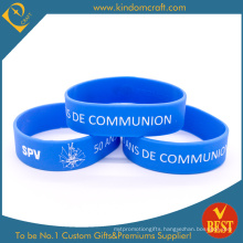 Custom Broadened Blue Silicone Wristband for Promotional Gifts (LN-013)