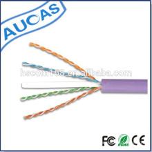 Cabo de rede blindado interior de systimax UTP cat6 / torcido 4 pares 1000ft 305m cabo de Ethernet