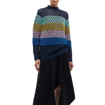 Oversized Hollow Out Hand Knitted Crochet Sweater