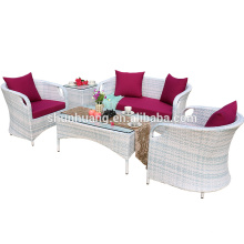 Cozy outdoor rattan furniture wicker patio sofa set