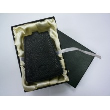 Жесткий ящик, Сложенная коробка для подарочного набора из кожи, Бумажная коробка