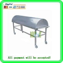 Hospital stainless steel mortuary trolley MSLMC02