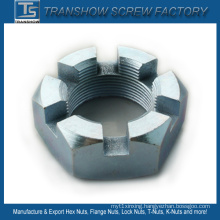 Zinc Galvanized DIN935 Castle Nut