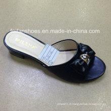 Nouveau Style Bonne Qualité Mode Femmes PU Sandales Pantoufle (JH160523-3)
