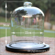 D22 * H 30cm Glas Glocke Cloche für Display