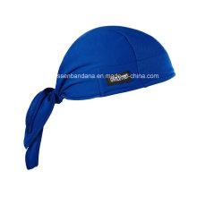 Custom Made Logo Impresso Algodão Dew Rag Adjustable Skull Bandana Cabeça Wrap Headscarf