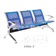General airport chair with three seat, Aluminum armrest and legs finishing (KS5A-3)