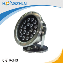 Éclairage de piscine décoratif imperméable à l'eau rgb 18w led pool light