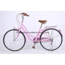 Prinzessin Pink 26 Zoll Günstige Frauen City Bike / Dutch Bike