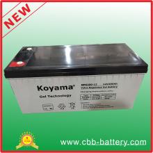 Batería antirrobo completamente sellada Gel de almacenamiento Batería 12V 200ah Gel solar