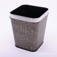 Square Retro De0sign Poubelle en cuir de haute qualité