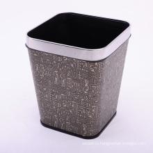 Квадрат ретро De0sign Высококачественная кожаная корзина для мусора