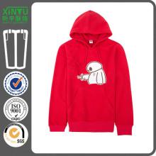 2016 Red Fleece Günstige Pullover Plain 100% Polyester Kapuzenpullis