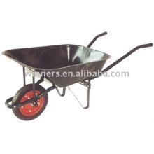 Carretilla de rueda WB6502, ruedas eléctricas, manija de la carretilla, carretilla del poder
