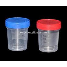 desechables de plástico de color medicina muestras de orina tazas