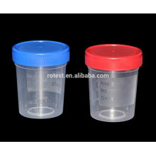 disposable colored plastic medicine urine specimen cups