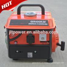 Generador de gasolina portátil de 2 tiempos y 650 vatios