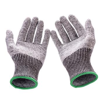 Luvas resistentes anti-corte do trabalho da segurança da cozinha do nível 5 do produto comestível HPPE